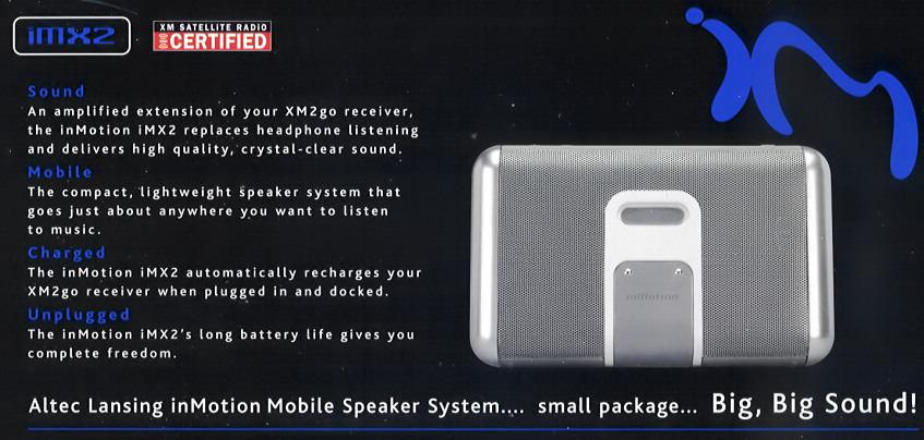 Altec Lansing Inmotion Imx2 Portable Powered Speaker